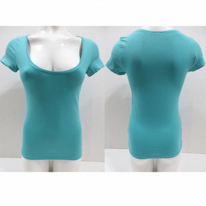 H&M top Small Basic solid stretch short sleeve